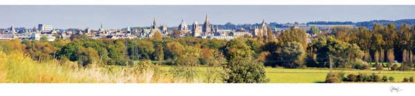 Panorama of Oxford University's Dreaming Spires from Hinksey Hill, Autumn.