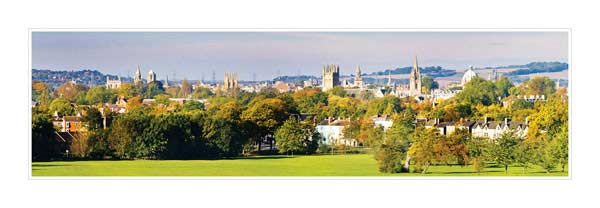 Panorama of Oxford University's Dreaming Spires in the Autumn.