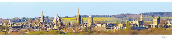 Panorama of Oxford University's Dreaming Spires from Hinksey Hill.
