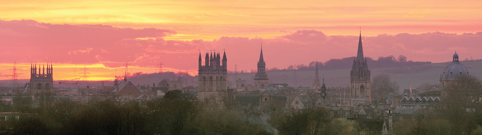 Oxford with Orange Sunset