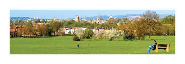 Panorama of Oxford University's Dreaming Spires in the Springtime.
