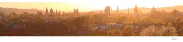 Panorama of Oxford University from South Park, on a Spring Evening.